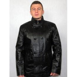 Куртка мужская кожаная черная