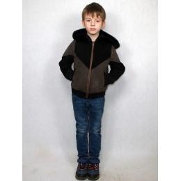 Куртка детская черно-серая