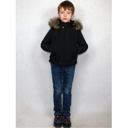 Детская куртка темно-синяя на эко-меху