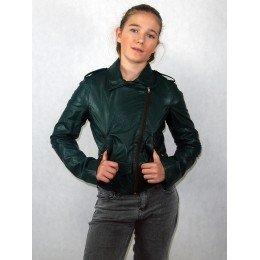 Куртка зеленая из эко-кожи