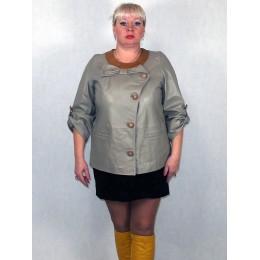Куртка женская серая кожаная куртка